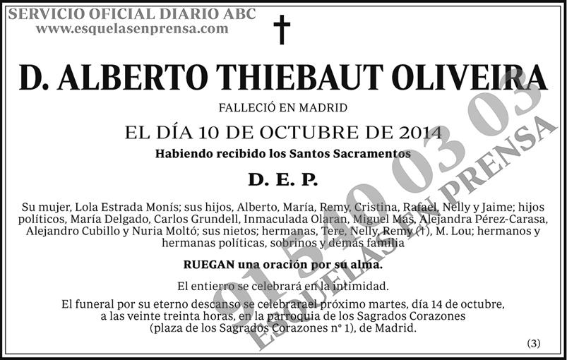 Alberto Thiebaut Oliveira